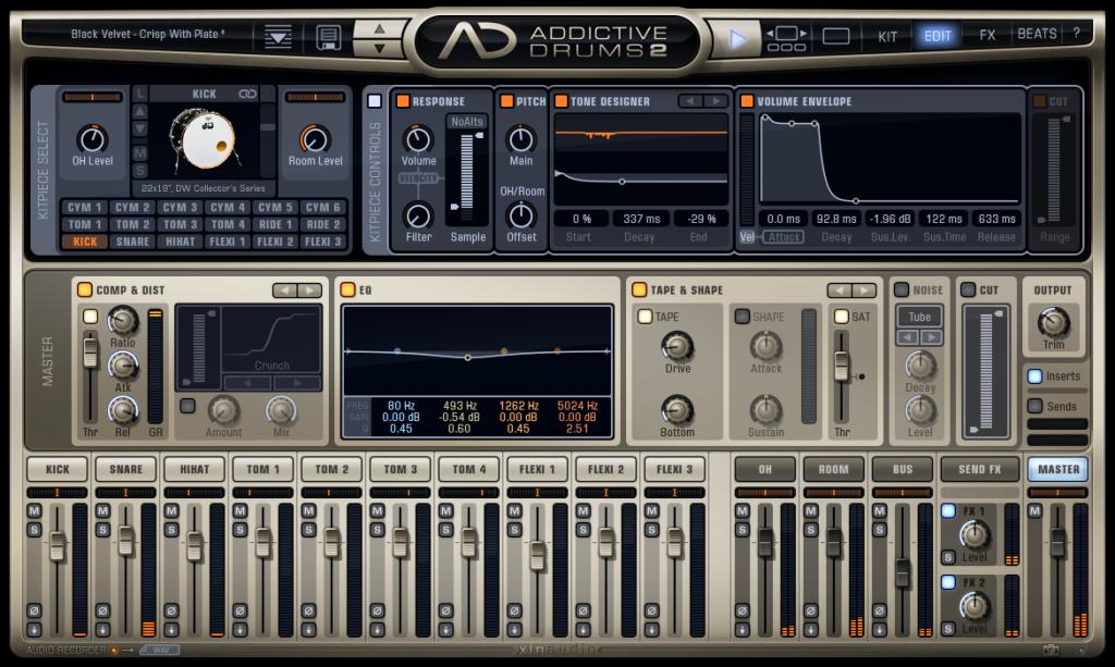 XLN Audio Addictive Drums 2.2.0 Complete Collection Crack + VST Torrent Free