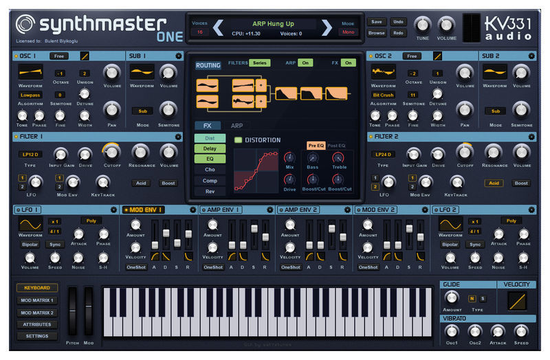 KV331 Synthmaster One 2.9.8 + Crack [Win & Mac OSX] Download